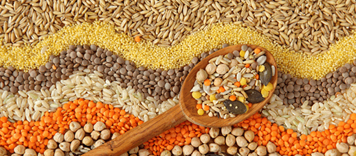 An image of different grains.