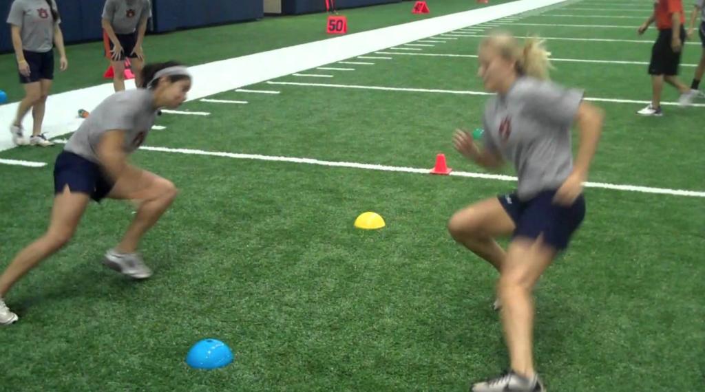 Image of athletes training agility.